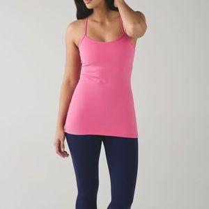 Lululemon Power Y Pink Tank Top